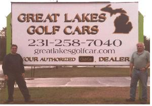 Great Lakes Golf Cars Sign with Mark & Steve